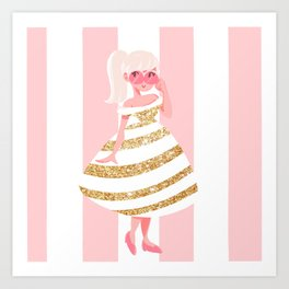 Pink and Gold Art Print