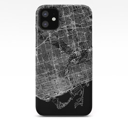Toronto Black Map iPhone Case