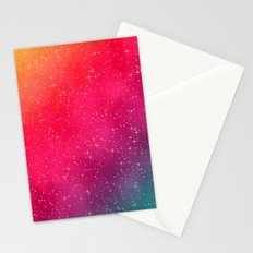Colorful Galaxy Stationery Cards