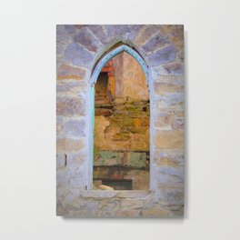 Window in Ruins Metal Print