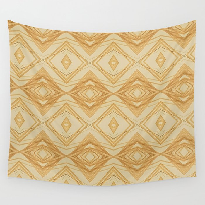 In The Golden Straw Wall Tapestry