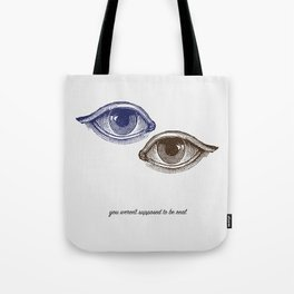 Eyes Both Brown and Blue Tote Bag