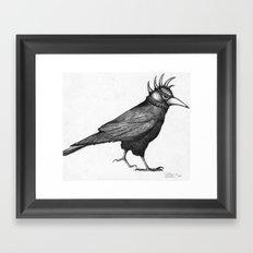 Corvus Punkus Framed Art Print