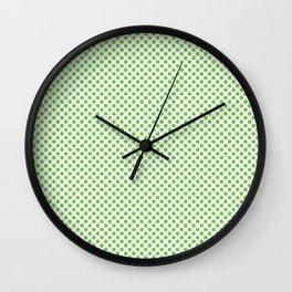 Green Flash Polka Dots Wall Clock