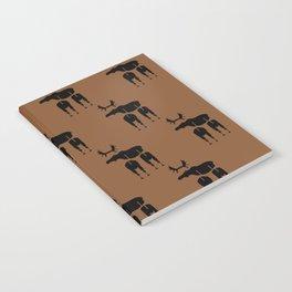 Brown Moose Pattern Notebook