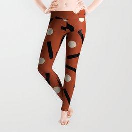 Postmodern Sticks + Stones in Terracotta Leggings