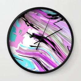 Marbled Lilac Wall Clock