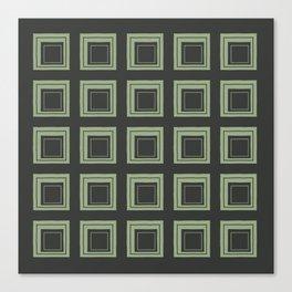 Green Squares Canvas Print
