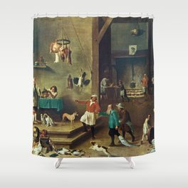 The Kitchen by David Teniers the Younger Shower Curtain