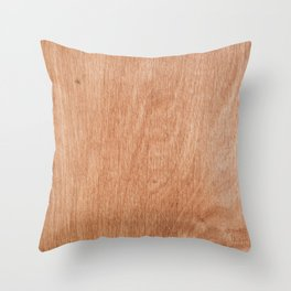 Abstract pastel brown rustic wood texture Throw Pillow