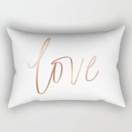 Your Love is Gold Rectangular Pillow