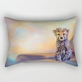 Cute cheetah cub Rectangular Pillow