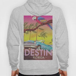 Destin Florida USA vintage style travel poster Hoody