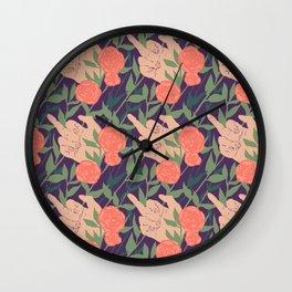 Mrs. Robinson Pattern Revamp Wall Clock
