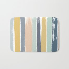 Pastel Stripes Bath Mat