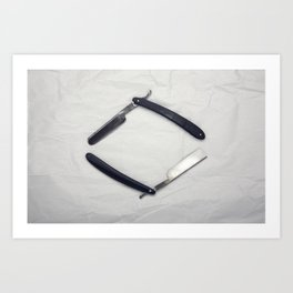 Straight Razors Art Print
