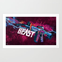 Machine Gun 9 Art Print