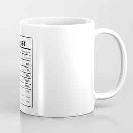 Gymnast Nutrition Ingredients Coffee Mug