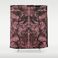 psychology Shower Curtains featuring Mystical Rorschach  by Art by Mel