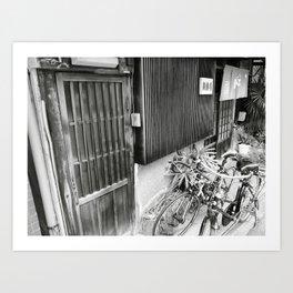 Horie store w/ bikes Art Print