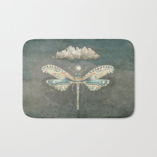 Dragonfly of the moon Bath Mat