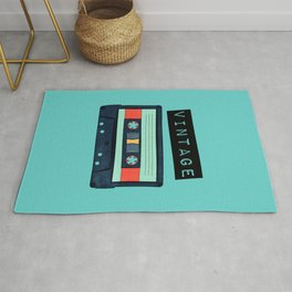 Cassette Tape (Aqua) Rug
