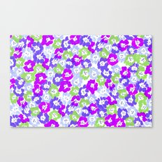 Morning Glory - Violet Multi Canvas Print