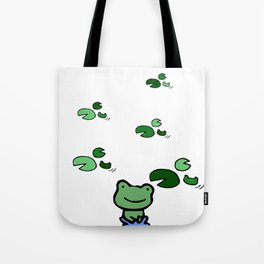 Hopping Along The Pond Tote Bag