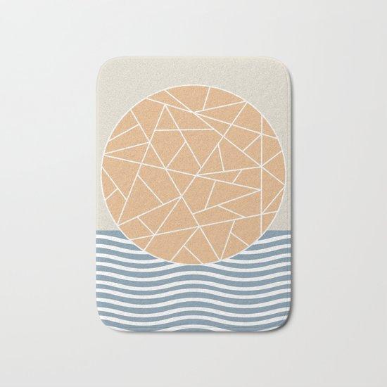 MAYBE THE SEA (abstract geometric) Bath Mat