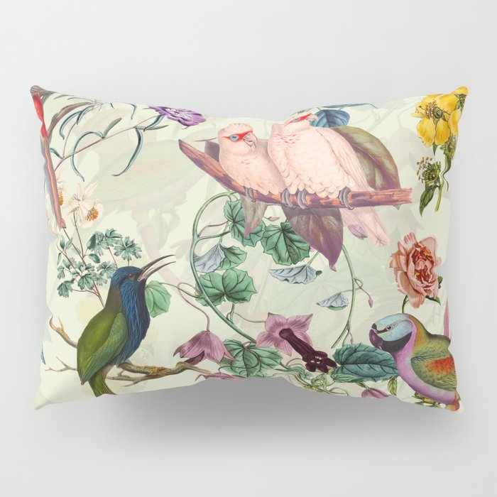 Floral and Birds VIII Pillow Sham
