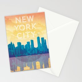 New York City Travel Poster Stationery Cards