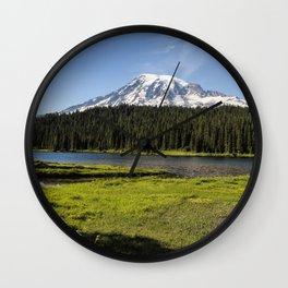 Mt Rainier from Reflection Lake, No. 1 Wall Clock