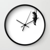 banksy Wall Clocks featuring Banksy Fly Away  by Love2Snap