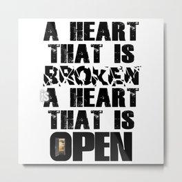 u2's cedarwood road heart Metal Print