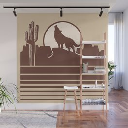 Howling at the Moon Landscape 231 Beige Brown and Tan Wall Mural