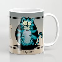 my mad fat diary Mugs featuring Fat Cat by mangulica