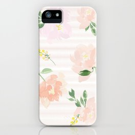 Gigi Collection - Peach Peony iPhone Case