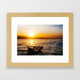 Salty Sunrise (Film) Framed Art Print