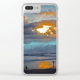 Behold the Sunset Clear iPhone Case
