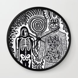 I was in a skeleton suit holding your hand... then I woke up / In honour of Donnie Darko Wall Clock