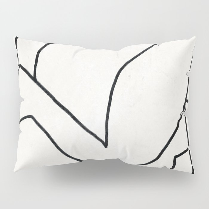 Abstract line art 2 Pillow Sham