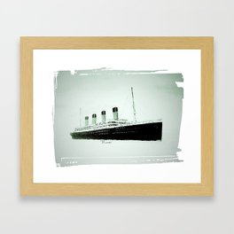R.M.S Titanic as she leaves Belfast.(Fridge magnet. Framed Art Print
