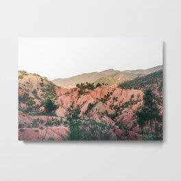 Orange mountains of Ourika Morocco | Atlas Mountains near Marrakech Metal Print