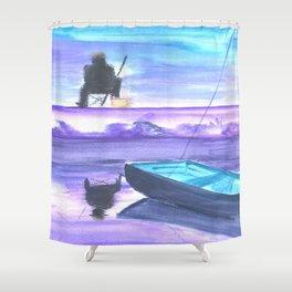 Gone Fishing Shower Curtain