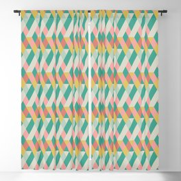 Adelaide Modern Rory in Seafoam and Coral Blackout Curtain