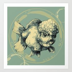 Bubble Head Fish Art Print