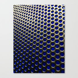 Stainless Steel Circles with Blue Canvas Print
