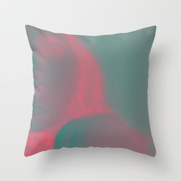 Expressionless Throw Pillow