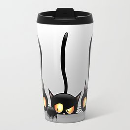 Three Naughty Playful Kitties Travel Mug