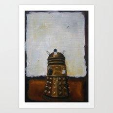 Dalek and a Rothko Art Print